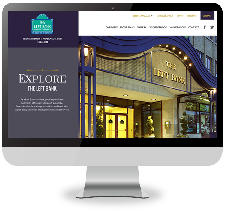 The Left Bank website home page
