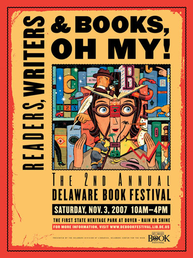 Delaware Library Book Festival Poster
