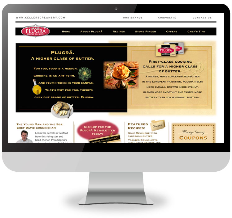 Plugrá Butter Website