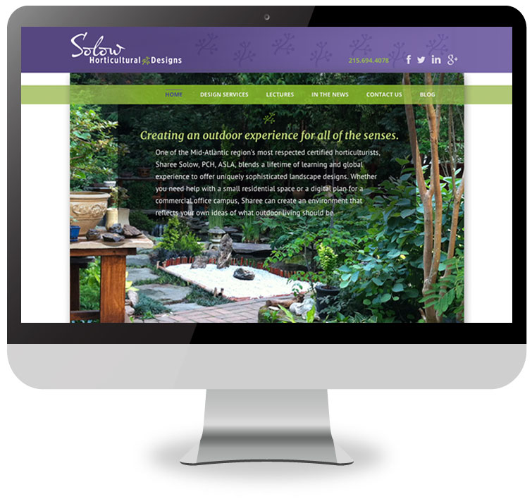 Solow Horticultural Designs Website